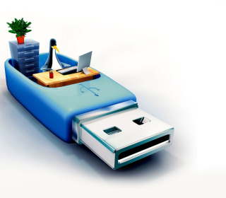 USB Flash Drive Stick - Obrázkek zdarma pro 320x320