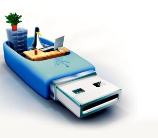 USB Flash Drive Stick - Obrázkek zdarma pro iPad