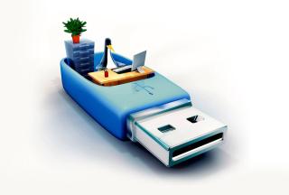 USB Flash Drive Stick - Obrázkek zdarma pro Desktop Netbook 1024x600