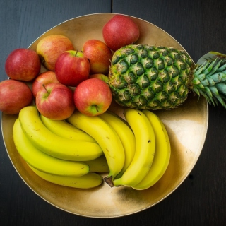 Fruits, pineapple, banana, apples - Obrázkek zdarma pro iPad mini 2