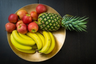 Fruits, pineapple, banana, apples - Obrázkek zdarma pro Widescreen Desktop PC 1600x900