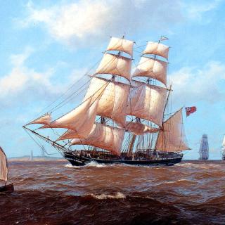 John Steven Dews Marine Painting - Obrázkek zdarma pro 320x320