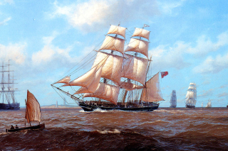 John Steven Dews Marine Painting - Obrázkek zdarma pro HTC Desire