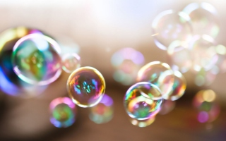 Colorful Bubbles - Obrázkek zdarma pro Motorola DROID 2