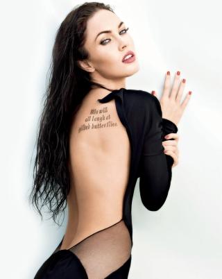 Megan Fox Tattoo - Obrázkek zdarma pro Nokia Asha 308