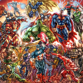 DC Universe and Marvel Comics - Obrázkek zdarma pro iPad mini