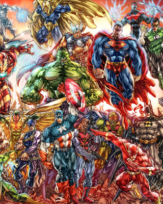 DC Universe and Marvel Comics Background for Nokia N8