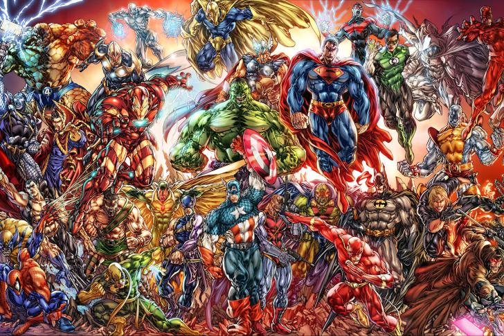 DC Universe and Marvel Comics wallpaper