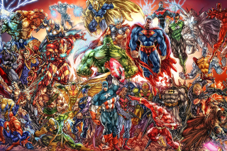 DC Universe and Marvel Comics Background for Android, iPhone and iPad