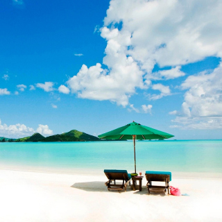Tropical Paradise White Beach - Obrázkek zdarma pro iPad