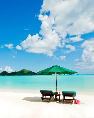 Tropical Paradise White Beach - Obrázkek zdarma pro Nokia 300 Asha