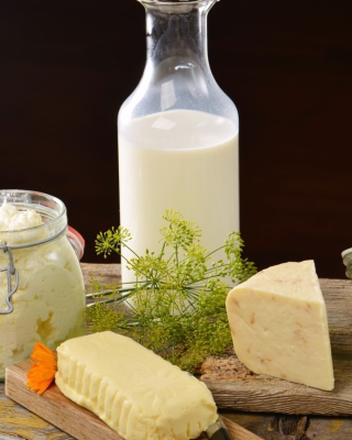 Milk, cheesea and butter - Obrázkek zdarma pro 480x640