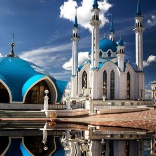 Kul Sharif Mosque in Kazan - Obrázkek zdarma pro iPad mini 2