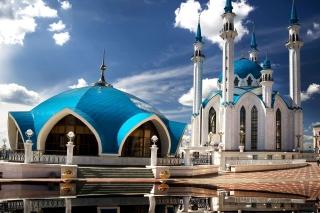 Kul Sharif Mosque in Kazan - Obrázkek zdarma pro Desktop 1280x720 HDTV