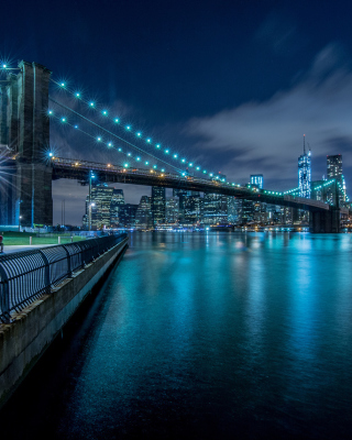 Cable Brooklyn Bridge in New York - Obrázkek zdarma pro 640x960