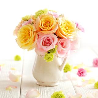 Tender Purity Roses Bouquet - Obrázkek zdarma pro iPad mini