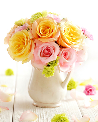 Tender Purity Roses Bouquet - Obrázkek zdarma pro 240x320