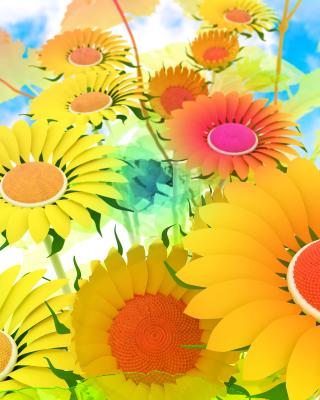 Drawn Daisies - Obrázkek zdarma pro Nokia Asha 300