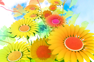 Drawn Daisies Wallpaper for Android, iPhone and iPad