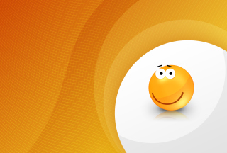 Orange Friendship Smiley - Obrázkek zdarma pro Widescreen Desktop PC 1600x900