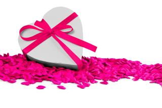 Heart Shaped Box Gift Wallpaper for Nokia Asha 200