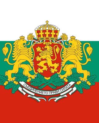 Bulgaria Gerb and Flag - Obrázkek zdarma pro 640x960