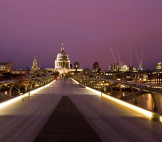 Millennium Futuristic Bridge in London - Obrázkek zdarma pro 128x128