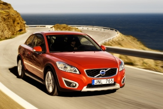 Volvo C30 Red Background for Android, iPhone and iPad