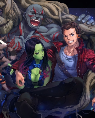 Strange Tales with Gamora and Drax the Destroyer - Obrázkek zdarma pro Nokia Asha 203