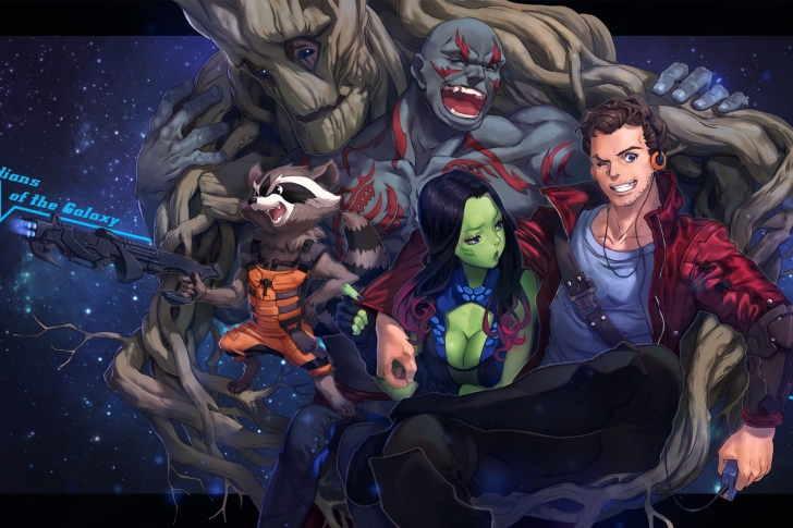 Strange Tales with Gamora and Drax the Destroyer wallpaper