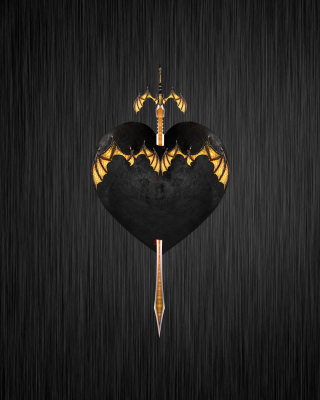 Sword In Heart - Obrázkek zdarma pro Nokia C1-02