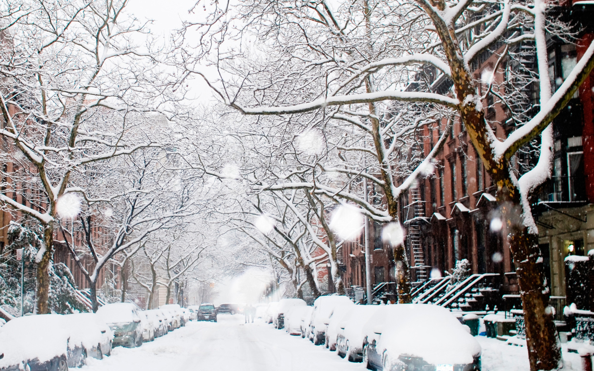 Winter on new york streets wallpaper for widescreen - Nyc winter wallpaper hd ...