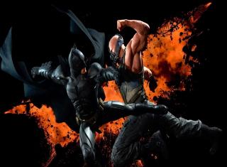 Batman VS Bane - Obrázkek zdarma pro 1366x768