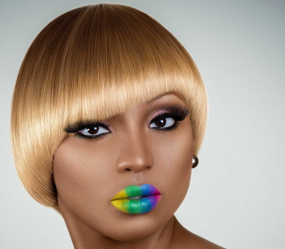 Rainbow Makeup - Obrázkek zdarma pro 128x128