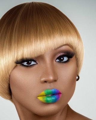 Rainbow Makeup - Obrázkek zdarma pro Nokia C6-01