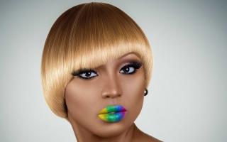 Rainbow Makeup - Obrázkek zdarma pro Sony Xperia Z3 Compact