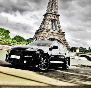 Porsche Cayenne In Paris - Obrázkek zdarma pro iPad