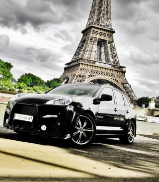 Porsche Cayenne In Paris - Obrázkek zdarma pro iPhone 5C