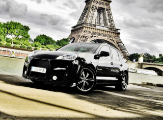 Porsche Cayenne In Paris Wallpaper for Android, iPhone and iPad