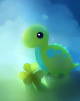 Cute Green Dino - Obrázkek zdarma pro iPhone 5
