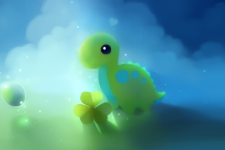 Cute Green Dino - Obrázkek zdarma pro 1920x1200