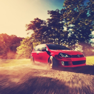 Red Golf Gti Drift - Obrázkek zdarma pro iPad Air