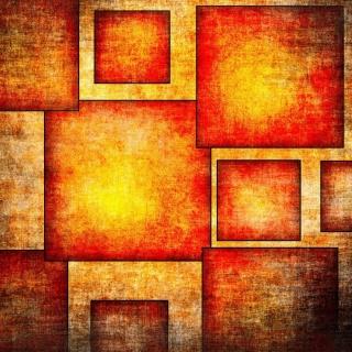Orange squares patterns - Obrázkek zdarma pro iPad mini 2