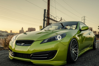 Stanced Hyundai Genesis Coupe Picture for Android, iPhone and iPad