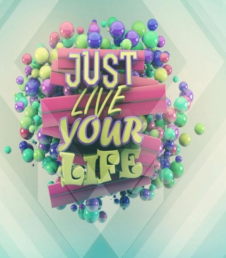Just Live Your Life - Obrázkek zdarma pro Nokia Lumia 920T