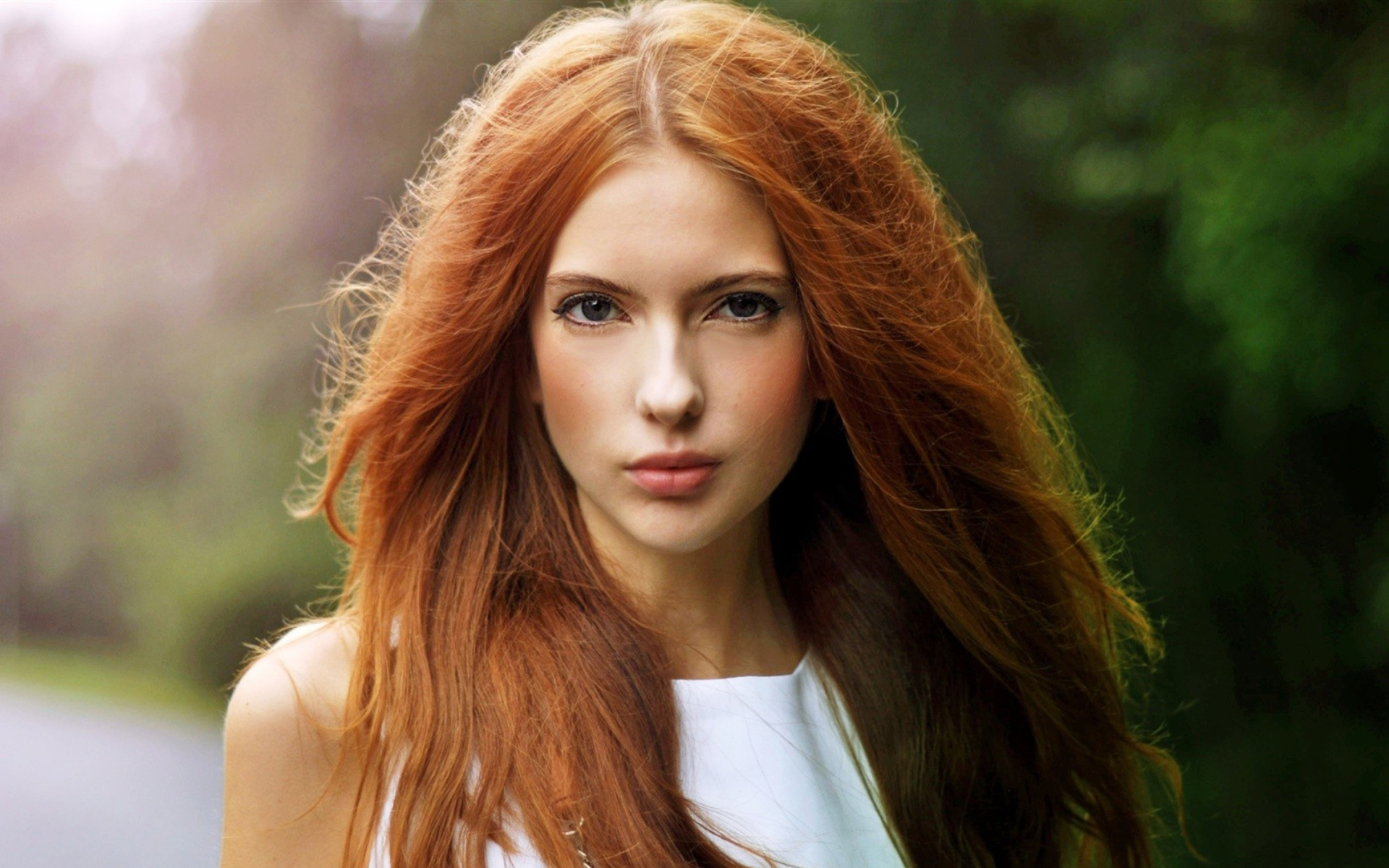 Beautiful Redhead Girl Wallpaper For Widescreen Desktop PC 1920x1080