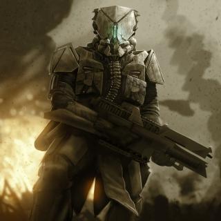 Warrior in Armor - Obrázkek zdarma pro iPad Air