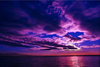 Purple Sunset Background for Android, iPhone and iPad