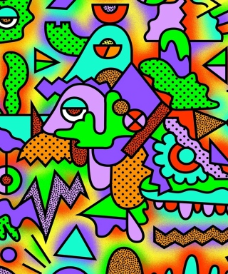 Crazy Neon Heads - Obrázkek zdarma pro Nokia X1-01