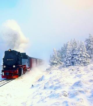 Winter Train Ride - Obrázkek zdarma pro Nokia Asha 502